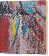 Stringed Abstract Wood Print