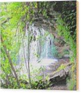 Stumphouse Tunnel Wood Print