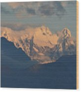 Stunning Countryside Of Northern Italy With The Alps  Wood Print