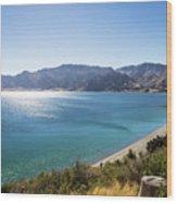 Stunning Hawea Lake In New Zealand Wood Print
