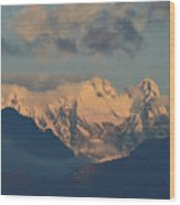 Stunning Landscape View Of The Italian Alps  Wood Print