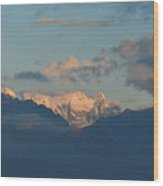 Stunning Scenic View Of The Dolomites Mountains In Italy  Wood Print