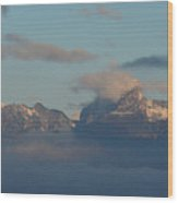 Stunning View The Dolomites Mountains In Italy Wood Print