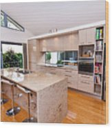 Stylish Modern Kitchen Wood Print