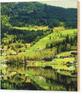 Summer In Norway Wood Print