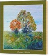 Summer Meadow Wood Print by Carola Ann-Margret Forsberg