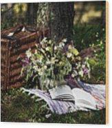 Summer Picnic Wood Print