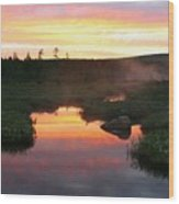 Summer Sunrise In Maine Wood Print
