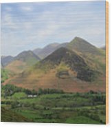 Summer, The Newlands Valley, Lake District National Park Wood Print