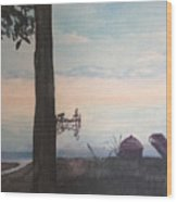 Summers End Wood Print