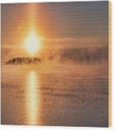 Sun Pillar Wood Print