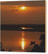 Sun Setting On The Nile Wood Print