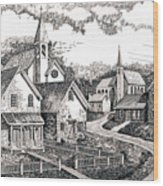 Sunday Houses Along Old Church Street Wood Print