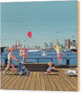 Sunday Morning Lonsdale Quay Wood Print