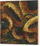 Sunflowers Wood Print by Michael Lang