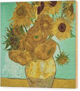 Sunflowers Wood Print by Vincent Van Gogh