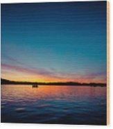 Sunrise Above Lake Water Summer Time Latvia Ezera Skanas Wood Print