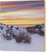 Sunrise At Marginal Way Wood Print