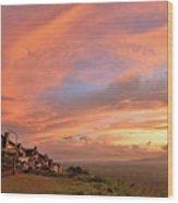 Sunrise At Tagaytay Highland Wood Print