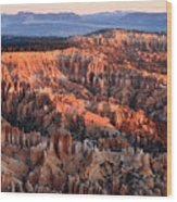 Sunrise In Bryce Canyon Wood Print