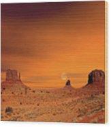 Sunrise Monument Valley Wood Print
