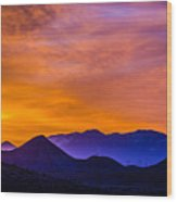 Sunrise Over Colorado Rocky Mountains Wood Print