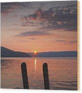 Sunrise Over Keuka V Wood Print by Steven Ainsworth