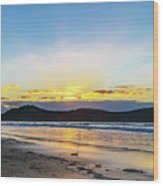 Sunrise Seascape And Crepuscular Rays Wood Print