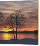 Sunrise Winnipesaukee Wood Print