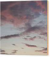 Sunrise With Clouds Il Wood Print