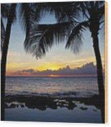 Sunset - Oahu West Shore Wood Print