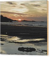 Sunset 2 Wood Print