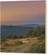 Sunset Above Craigs Hut  In The Victorian Alps, Australia Wood Print