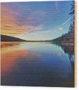 Sunset At Fallen Leaf Lake Wood Print