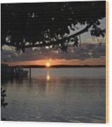 Sunset At Islamorada Wood Print