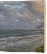 Sunset At Kapaa - Kauai Wood Print
