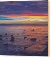 Sunset At Mauritius Wood Print