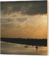 Sunset At Pass A Grille Florida Wood Print