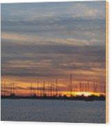 Sunset At Rock Hall, Md Wood Print