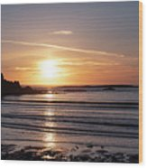 Sunset Bay Moments Wood Print