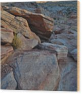Sunset Comes To Valley Of Fire Wood Print