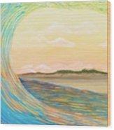 Sunset Curl Wood Print