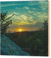 Sunset In Hudson Nh Wood Print