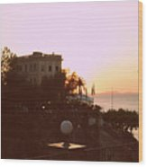 Sunset In Sorrento Wood Print