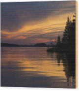 Sunset On The Chippewa Wood Print