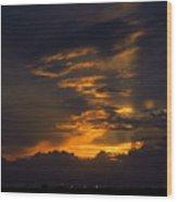 Sunset Over Daytona International Speedway Wood Print