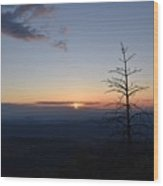 Sunset Over Kings Canyon In The Southwest Sierra Nevadas Wood Print