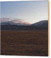 Sunset Over The Eastern Sierra Nevadas Wood Print