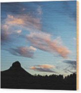 Sunset Over Thumb Butte Wood Print