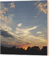 Sunset Sky Over Ohio Wood Print